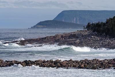 Waves crashing on Gulf of St. Lawrence Coast Cape Breton Highlands National Park Nova Scotia