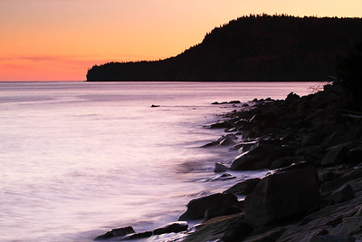 Upper Bay of Fundy shore New Brunswick