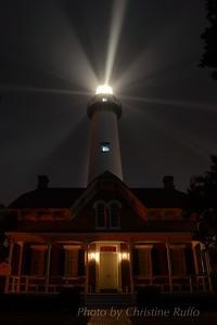 St. Simons Island Lighthouse in fog