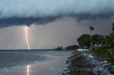 Summer lightning show over St. Simons Island
