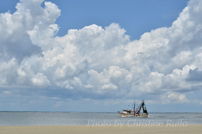 Shrimp boat off Jekyll Island