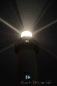 St. Simons Island Lighthouse in fog