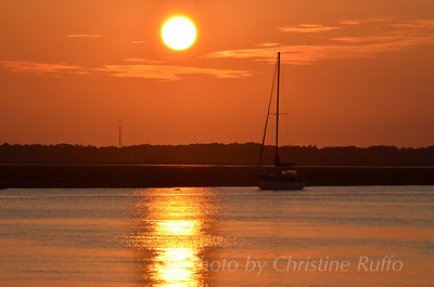 Sunset on the Intracoastal Waterway, St. Simons Island, Georgia