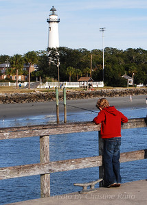 St. Simons Island Pier and Lighthouse. Photo by Christine Ruffo All rights reserved
