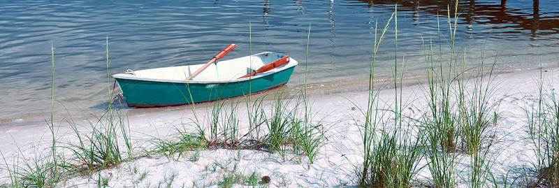 Rowboat Waiting for Someone to Row It. Santa Rosa Sound, Navarre Beach, FL.