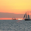 Sailing the Key West Sunset, Key West, FL.