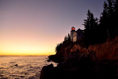 Bass Harbor Head Lighthouse at Dusk