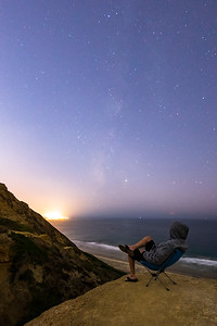 Milky Way Self-Portrait at Torrey Pines Gliderport