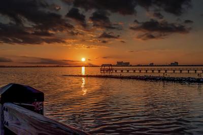 Sunset Ocean Springs, MS