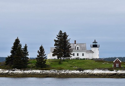 Pumpkin Lighthouse in Litte Deer Isle, Maine