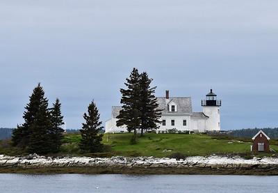 Pumpkin Lighthouse in Litte Deer Isle, Maine