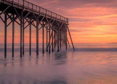 Sunset, San Simeon Pier