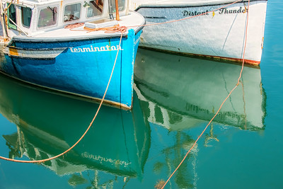Terminator vs Distant ThunderI loved the names of the lobster boats, sounds like a WWF showdown, :D.
