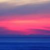 Pink horizon at dusk