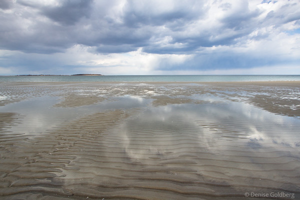 magic light, clouds and reflections at Crane Beach