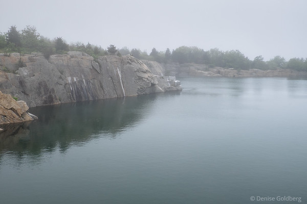 quarry at Halibut Point on a foggy day