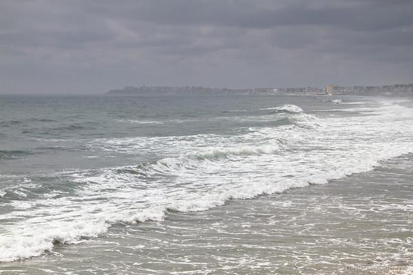 Hampton Beach, NH, under gray skies