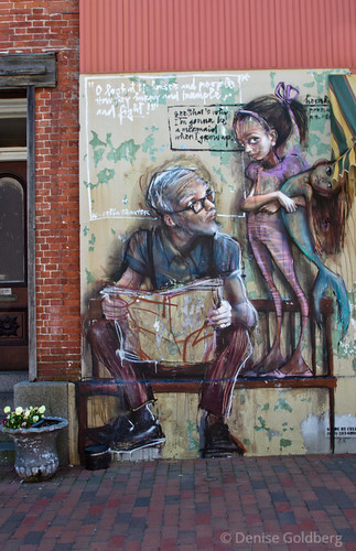 painting, on a wall in Portsmouth