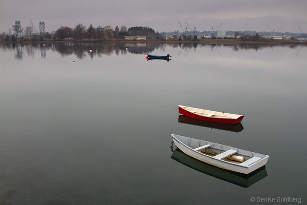boats on calm waters, Portsmouth NH
