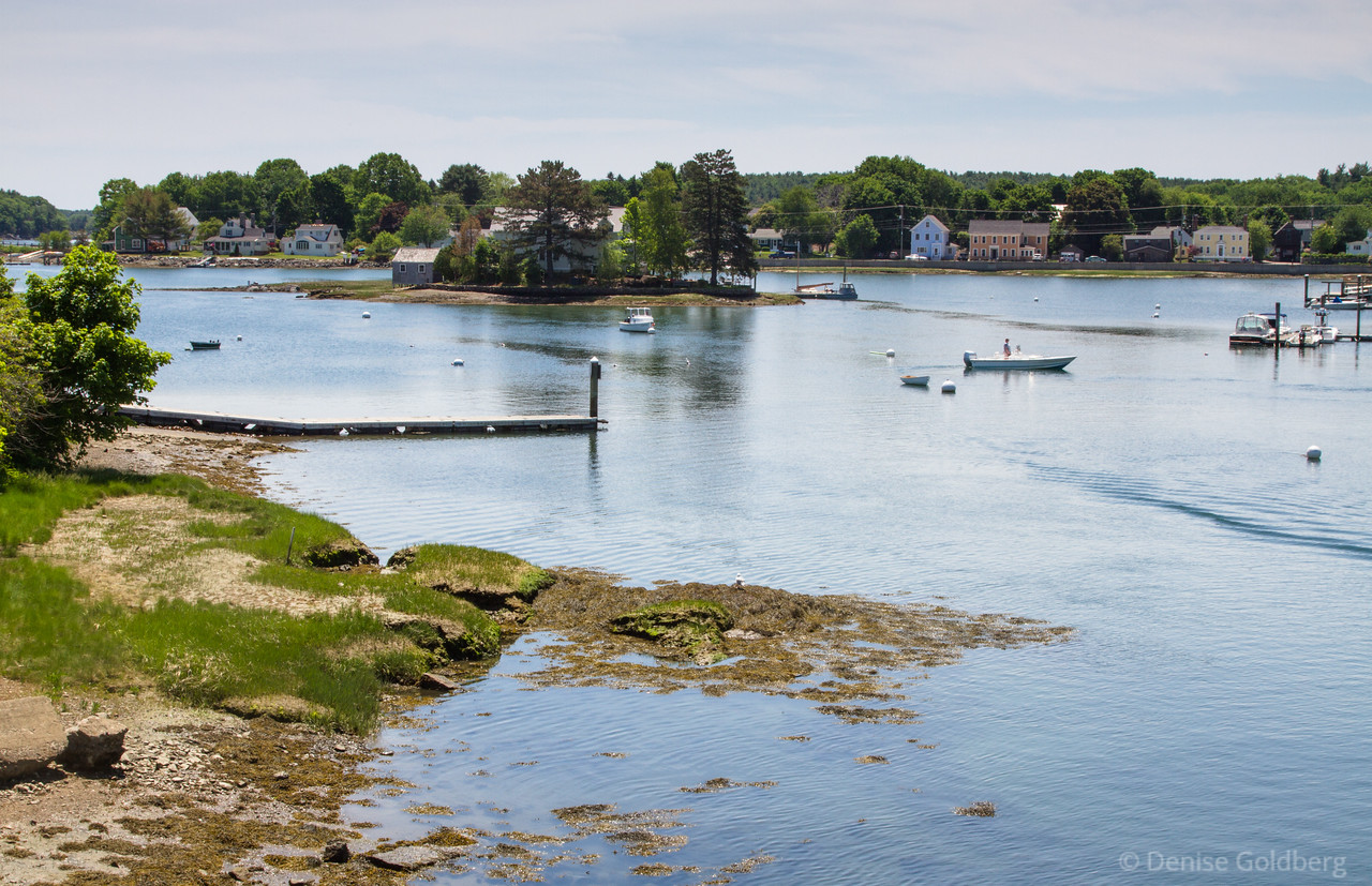the view from Peirce Island looking back to the mainland, Portsmouth, NH