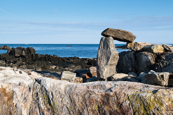stacked rocks, NH coast just south of Odiorne Point State Park