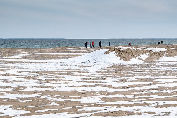 snow & sand, Hampton Beach