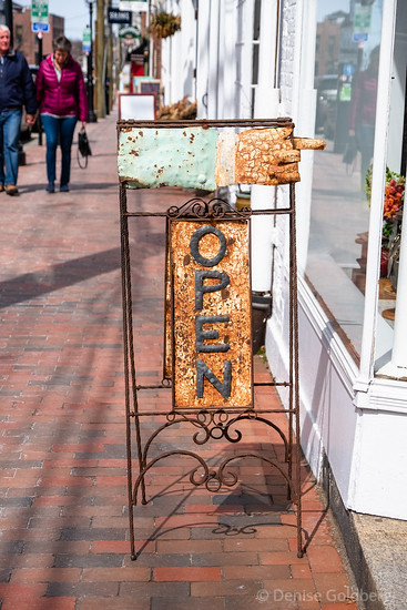 open sign, Portsmouth, NH