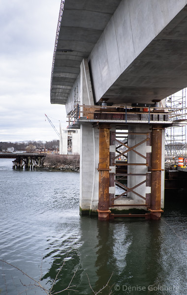 construction supports for the new bridge