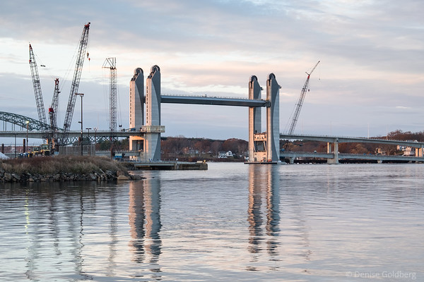 Sarah Mildred Long Bridge, still under construction