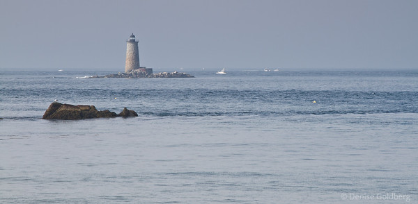 lighthouse visible from Fort Foster Park in Kittery Point, Maine