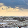 Kayaker in rough seas