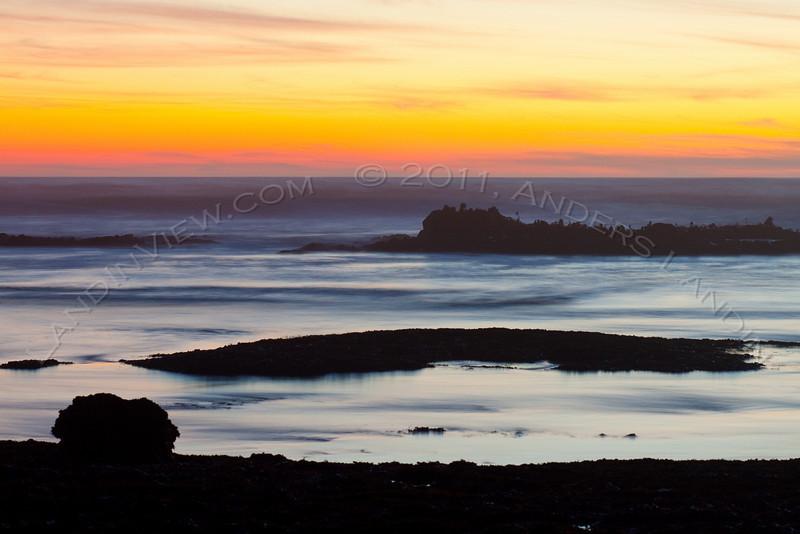 Fitzgerald marine reserve at dusk