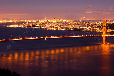 San Francisco and the Gold Gate Bridge