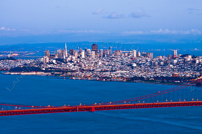 San Francisco and Golden Gate bridge #2