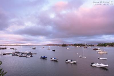 Sunrise over Seal Harbor