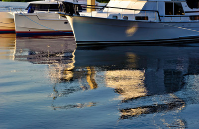 at the docks, marina reflections, June 2010