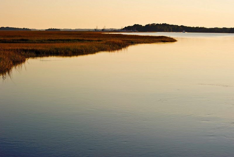 dusk near the marina on Seabrook Island - June 2010