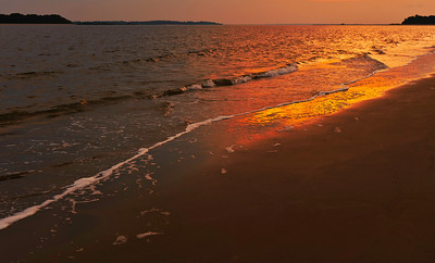 sunset on the beach, Seabrook Island, South Carolina