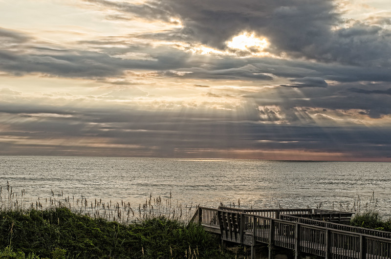Morning Breaking Through Storm Clouds at Nags Head, North Carolina