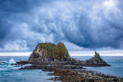 Storm over Head Rock, Mangawhai Heads