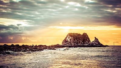 Head Rock in a Different Light, Mangawhai Heads