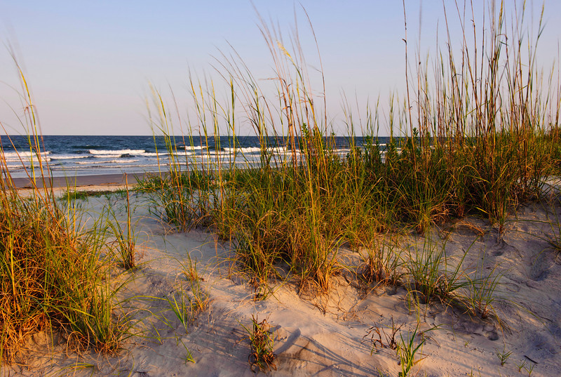 view of the beach, dunes, and ocean on Seabrook Island, South Carolina