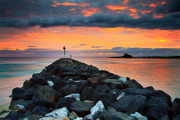 Breakwater Dawn, Gold Coast, Australia