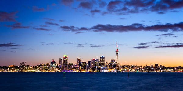 Twilight over Auckland city