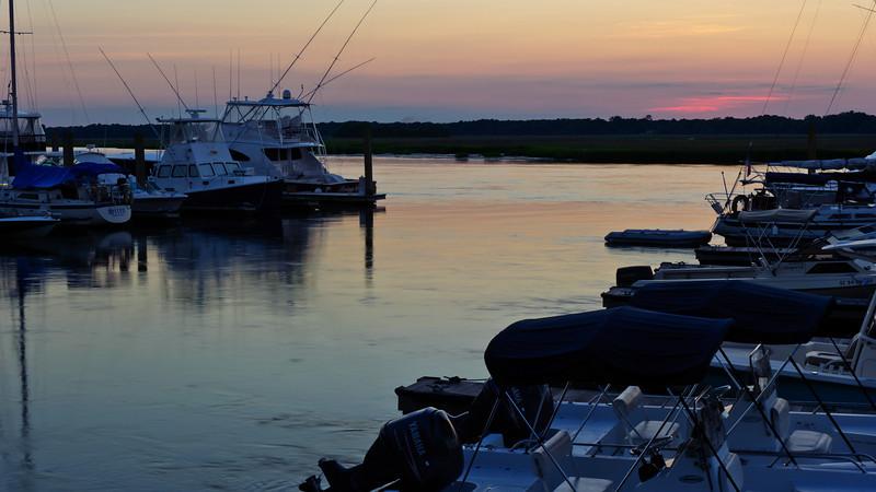 dusk at the marina, Seabrook Island, South Carolina