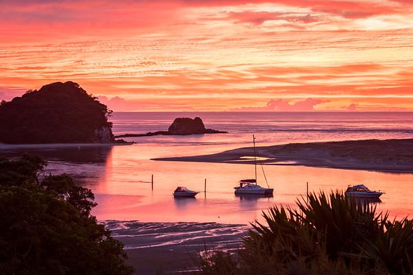 Red Sunrise, Mangawhai Heads