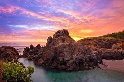 Sunrise over Te Arai Point