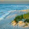 landscape photograph along the coast, waves on the beach, Navarre Beach, Florida