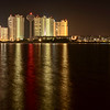 Navarre Beach, Florida after dark