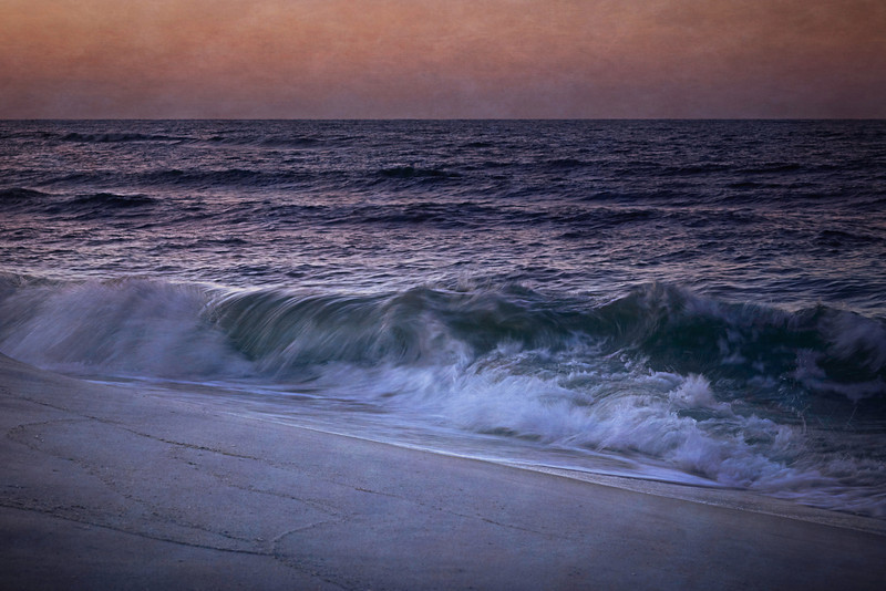 shoreline before sunrise, Navarre Beach, Florida<br /> <br /> #seascape #waterscape #coastal #beach #waves #navarrebeach #florida #seashore